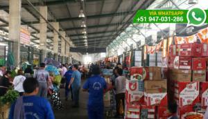 Pasadizos de Mercado Mayorista bloqueados con mercadería