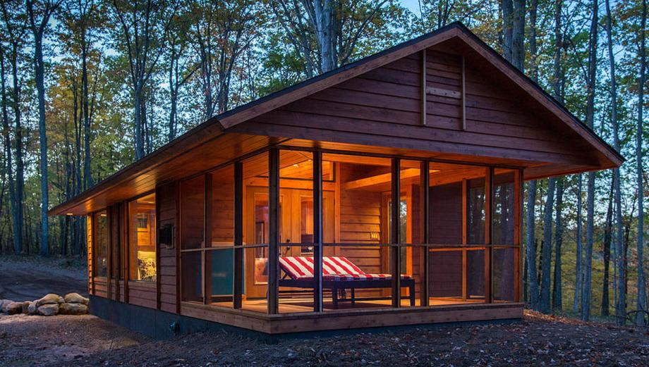 Viaja a bordo de esta casa rodante hecha en forma de cabaña