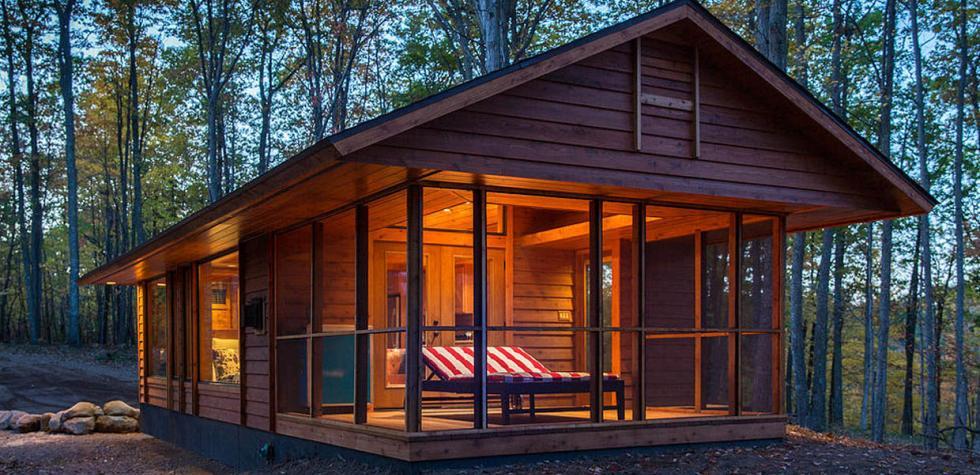 Viaja en esta casa rodante hecha como cabaña