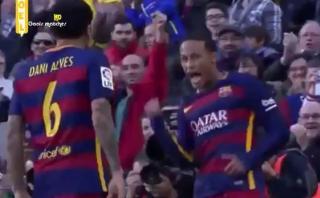 Gol de Neymar en clase de Barcelona de cómo romper una defensa