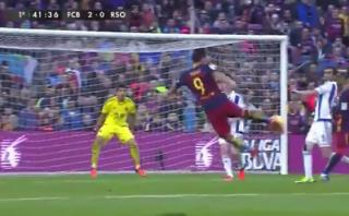 Luis Suárez: mira el golazo de tijera que anotó para Barcelona