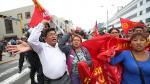 Siguen las protestas y enfrentamientos en la Av. Abancay - Noticias de homologación de sueldos