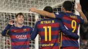 Barcelona goleó 4-0 a la Real Sociedad con goles de la 'MSN'