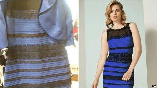 La foto y el vestido real. (Foto: PA)