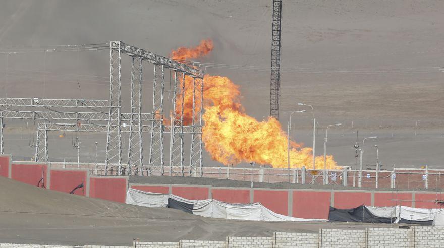Chilca fuga en ducto de gas natural caus voraz incendio for Imagenes de gas natural