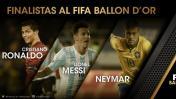 Balón de Oro: Messi, Cristiano y Neymar son los finalistas