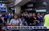 Metro de Lima: balacera en estación Gamarra causó pánico