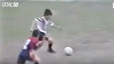 Messi y el video inédito en YouTube de un gol a los 12 años