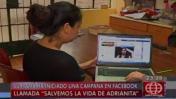 """""""Salvemos a Adrianita"""", campaña para ayudar a niña con tumor"""