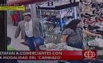 Cercado de Lima: sujeto estafa a comerciantes con 'cambiazo'