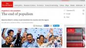 """""""Fin del populismo"""": dice The Economist sobre triunfo de Macri"""