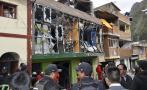 Imágenes de la fuerte explosión en mercado de Huancavelica