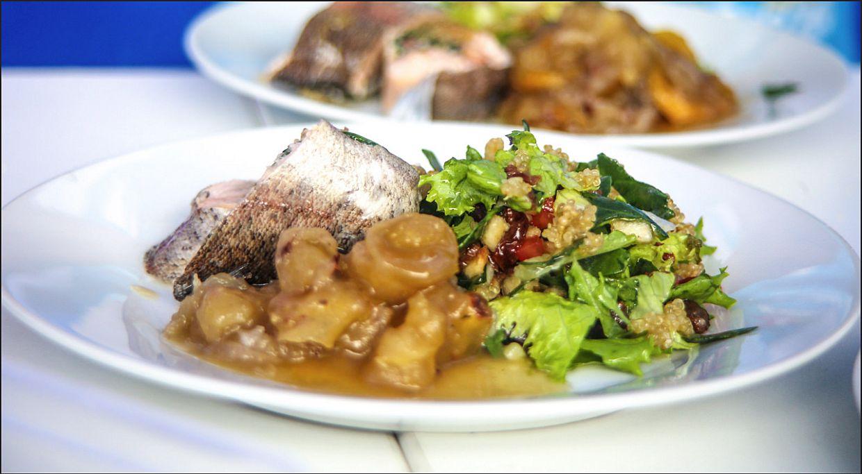 En la categoría Emprendimientos, Anccasi Vera se impuso con un 'pescado enrollado con ensalada de quinua y mashua glaseada'.