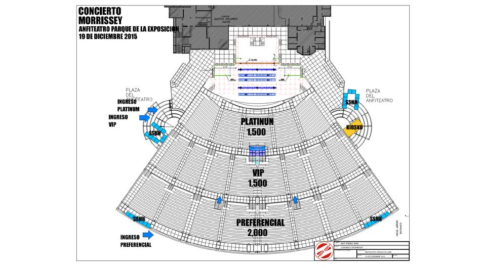 Mapa del concierto de Morrissey. (Foto: Difusión)