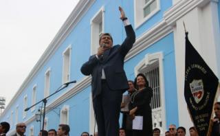 Alan García inauguró obras en emblemático colegio de Trujillo