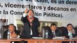 Rector de la U. Pedro Ruiz Gallo reiteró que no dejará cargo - Noticias de wilfredo sandoval