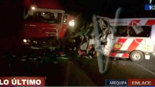 Arequipa: número de fallecidos por choque se incrementó a siete
