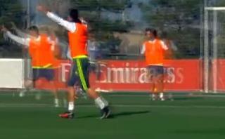 """Cristiano Ronaldo y el grito """"¡uhhhh!"""" que realizó en práctica"""