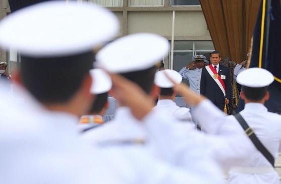 Ollanta Humala encabezó graduación de la Marina de Guerra
