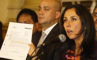 Nadine Heredia declaró en la fiscalía durante más de 6 horas