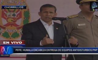 Callao: Humala no descarta extender el estado de emergencia
