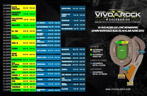 Vivo X el Rock 6: estos son los horarios de las presentaciones