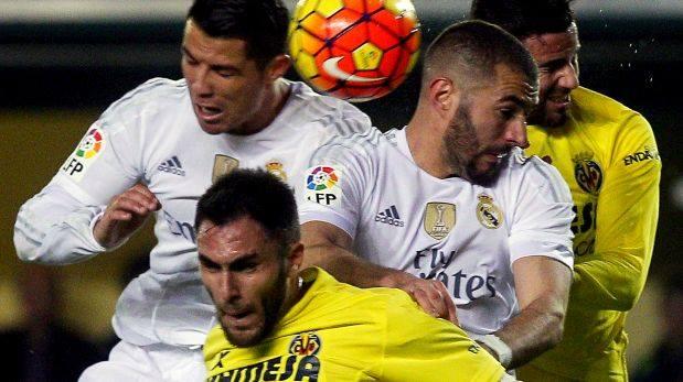 Real Madrid vs. Villrreal CF en vivo por la Liga BBVA. (Foto: AFP)