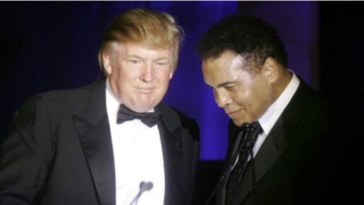 Donald Trump y Muhammad Ali, uno de los deportistas más reconocidos del mundo.