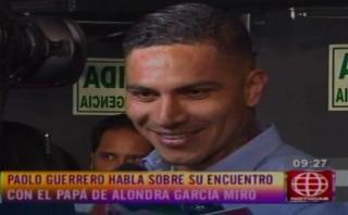 Paolo Guerrero habló de comparaciones entre Alondra y Yahaira