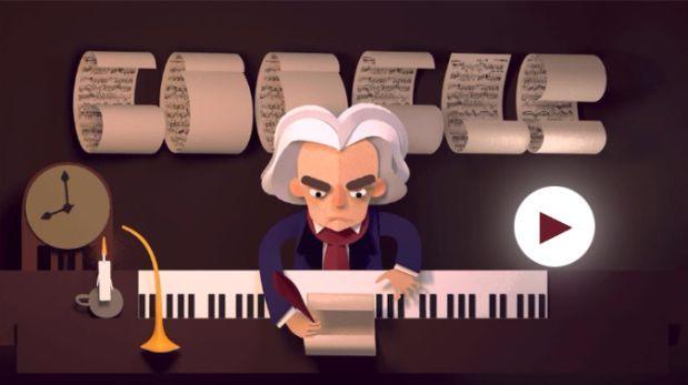 Google festeja el 245 cumpleaños de Ludwig van Beethoven