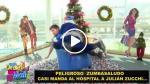 Zumba golpea muy fuerte a Zucchi en set de televisión [VIDEO] - Noticias de combate alejandro benitez