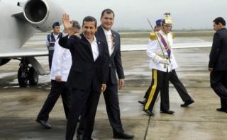 """Humala a Correa: """"Muchas veces la paz tiene un valor muy alto"""""""