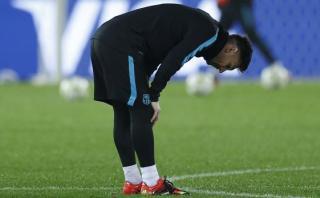 Lionel Messi sigue sin entrenar con Barcelona en Japón