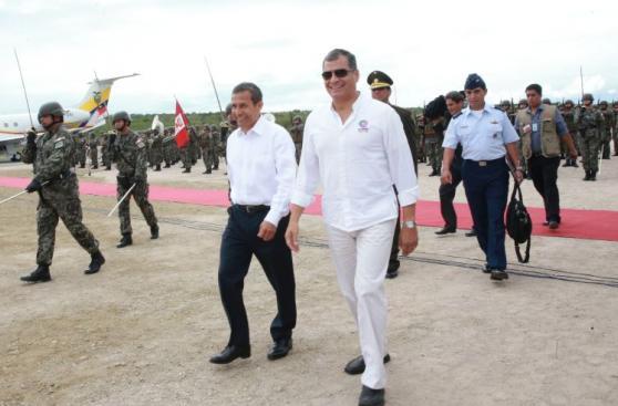 Humala y Correa: postales de la reunión de mandatarios en Jaén