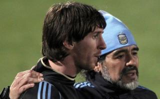 """Lionel Messi: """"Si alguien me inspiró, sin dudas fue Maradona"""""""
