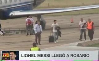 Lionel Messi llegó a Rosario para pasar Navidad con su familia
