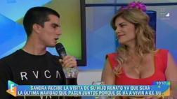 Sandra Arana lloró en televisión al despedirse de su hijo