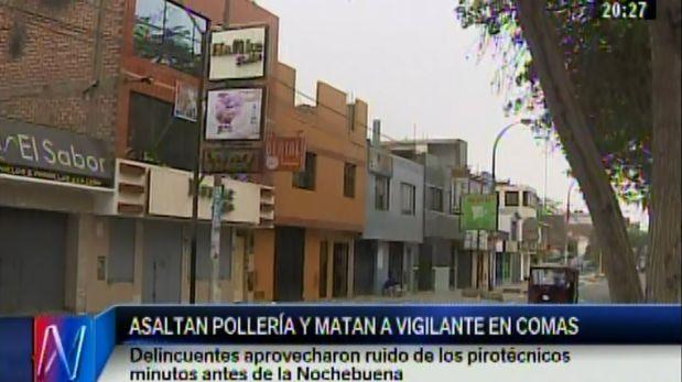 Vigilante fue asesinado de un balazo en asalto a pollería