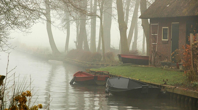 [Foto] Las calles de este pueblo en Holanda son de agua