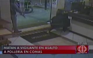 Comas: video muestra brutalidad de asalto a pollería en Navidad