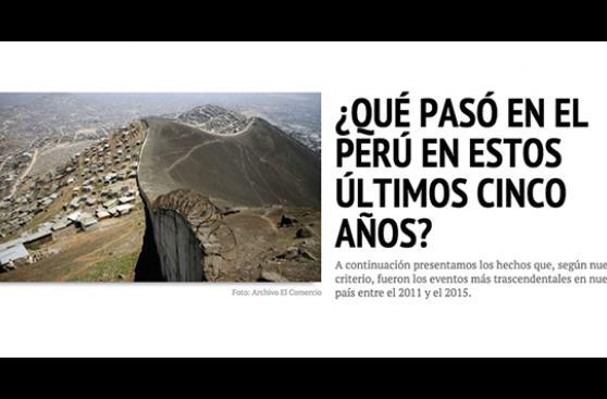 ¿Qué pasó en el Perú en estos últimos cinco años?