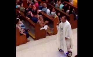 Suspenden a sacerdote por oficiar misa de Navidad en hoverboard