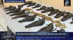Cae sujeto que trasladaba más de 20 armas en Lima Sur - Noticias de mamani rodriguez
