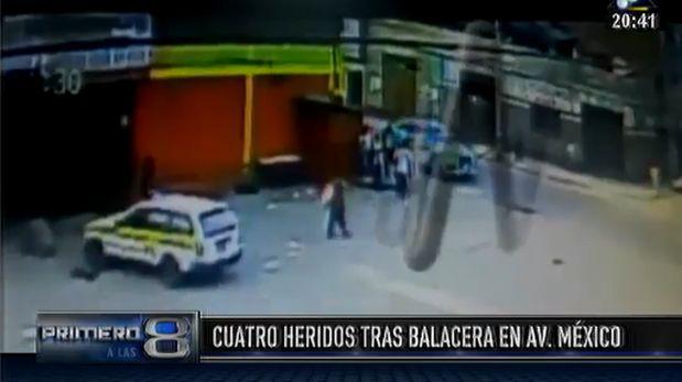La Victoria: cuatro heridos dejó balacera en la Av. México