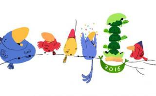 """Google presentó doodle """"sorpresa"""" por el Año Nuevo 2016"""