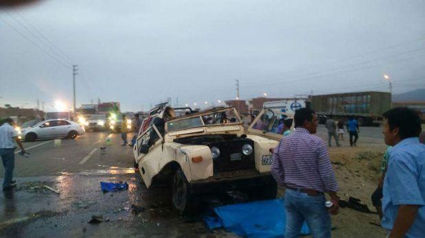 Un muerto y tres heridos en accidentes en la Panamericana Sur