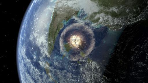 La hipótesis del impacto de un asteroide, que explica la extinción de los dinosaurios, también fue considerada para explicar la de finales del Pérmico. (BBC)
