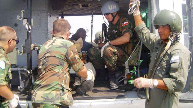 Hurt un Chilien soldats de la paix de capitaine en Haïti
