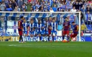 Lionel Messi ejecutó tiro libre de forma fantástica, pero...