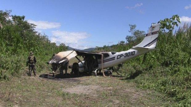 Avioneta boliviana de narcos fue interceptada en el Vraem